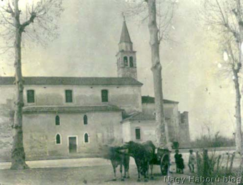 A zoppei templom 1918 tavaszán
