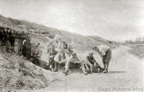46-os állások a Piave töltésén 1918 tavaszán